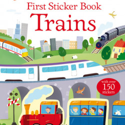 Trains first sticker book, Usborne