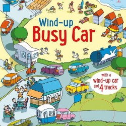 Wind up busy car, carte cu jucărie, usborne