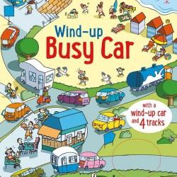 Wind up busy car, carte cu jucărie, usborne
