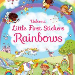 Carte cu abtibilduri, Little First Stickers Rainbows, Felicity Brooks, Usborne, 3+
