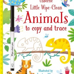 "Carte cu marker de tip ""scrie si sterge"" Little wipe-clean animals to copy and trace, Usborne"