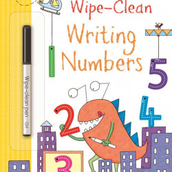 "Carte cu marker de tip ""scrie si sterge"", Wipe-clean writing numbers, Usborne"
