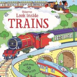 Carte cu multe clapete pentru copii curiosi, Look inside trains