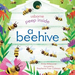 Carte cu multe clapete pentru copii curiosi, Peep Inside a Beehive, Usborne