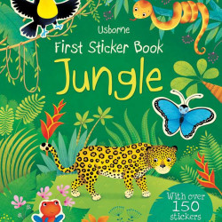 Carte cu stickere/abțibilduri first sticker book jungle