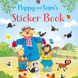 Carte cu stickere, Poppy and Sam's sticker book, usborne