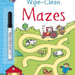 Carte de tip scrie și șterge la nesfârșit wipe-clean mazes