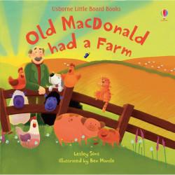 """Carte """"Old MacDonald Had a Farm"""", cu pagini cartonate, 18 luni+, Usborne"""