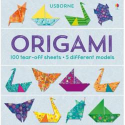 """Carte """"Origami: 100 tear-off sheets"""", 7 ani+, Usborne"""