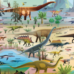 Carte si puzzle 300 piese, Dinosaur Timeline Book and Jigsaw, Rachel Firth