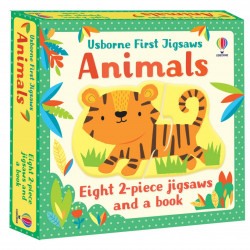 Carte si puzzle, Usborne First Jigsaws: Animals, Matthew Oldham, 2+