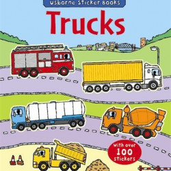 First Sticker Book Trucks, 3+, Usborne