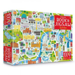 "Set Puzzle ""London picture book and jigsaw"" de Sam Smith, 5 ani+, Usborne"