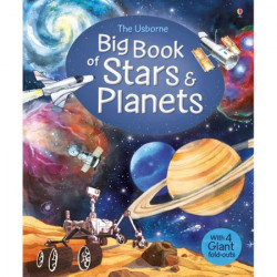 "Carte ""Big book of stars and planets"", cu coperta tare, 4 ani+, Usborne"