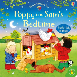 Carte cu clapete si touchy-feely, Poppy and Sam's bedtime, Usborne