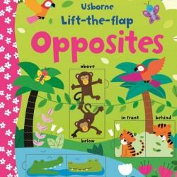 Carte cu multe clapete pentru copii curiosi, Lift the flap opposites, usborne