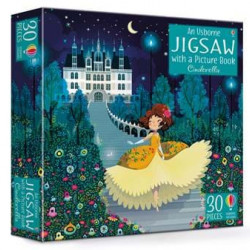 Carte și puzzle, cinderella jigsaw and picture book, usborne