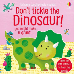 Carte sonora tactilă, touchy feely, don't tikle the dinosaur!