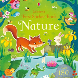 First sticker book Nature, 3+, Usborne