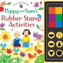 Poppy and Sam's rubber stamp activities, carte de pictat cu degetele și stampile, usborne
