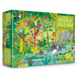 "Puzzle ""In the jungle puzzle book and jigsaw"", 5 ani+, Usborne"