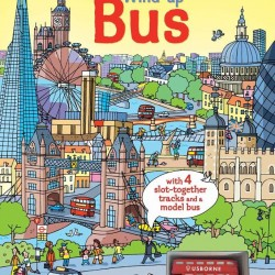 Wind-up bus, carte cu jucarie si harta Londrei, usborne