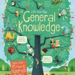 Carte ce contine informatii de cultura generala, cu multe clapete de deschis, pentru copii inteligenti, Lift the flap general Knowledge, usborne