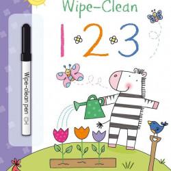 """Carte cu marker de tip """"scrie si sterge"""", Wipe-clean 123, Usborne"""