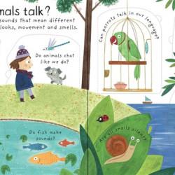 Carte cu multe clapete pentru copii curiosi, How do animals talk?