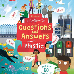 Carte cu multe clapete pentru copii curiosi, Lift-the-Flap Questions and Answers About Plastic, Usborne