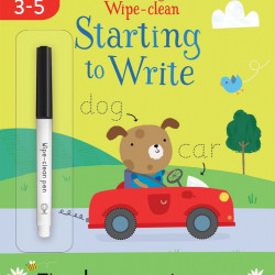 Carte de tip wipe and clean, Starting to Write, usborne