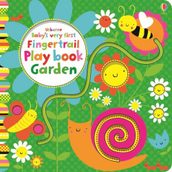 Carte senzorială, Baby's very first garden playbook fingertrail, usborne