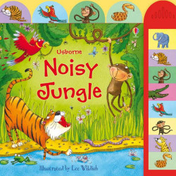 Carte sonora Noisy jungle, cu animale din jungla