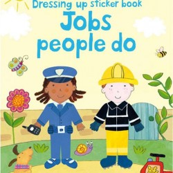 Dressing up jobs people do, sticker book, usborne
