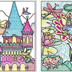 Fairy palaces magic painting book, carte magica de pictat doar cu apa, Usborne