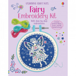 "Kit brodat ""Embroidery Kit: Fairy"", 7 ani+, Usborne"