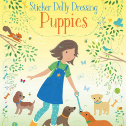 Little Sticker Dolly Dressing Puppies, Usborne, 3+