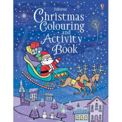 "Carte de colorat ""Christmas colouring and activity book"", Usborne"