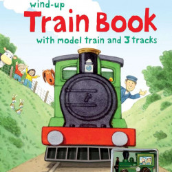Farmyard Tales wind-up train book, carte cu tren de jucărie, usborne