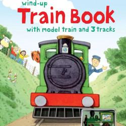 Farmyard Tales wind-up train book, carte cu tren de jucărie, usborne