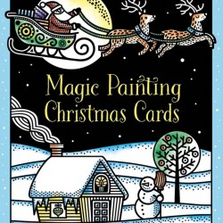 Magic painting Christmas cards, 10 felicitari de pictat doar cu apa, Usborne