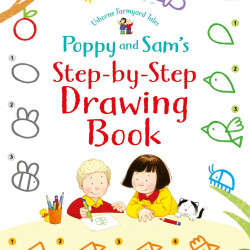 Poppy and Sam's Step-by-Step Drawing Book, Kate Nolan, Usborne, 4+