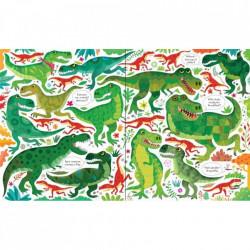 "Set Puzzle ""Dinosaurs puzzle book and jigsaw"" de Sam Smith, 5 ani+, Usborne"