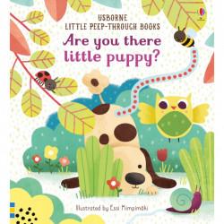 "Carte ""Are You There Little Puppy?"", cu pagini cartonate, 6 luni+, Usborne"