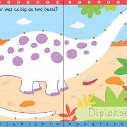 """Carte cu marker de tip """"scrie si sterge"""", Wipe-clean dot to dot dinosaurs, Usborne"""