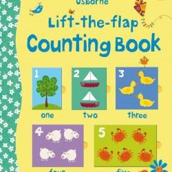 Carte cu multe clapete pentru copii curiosi, Lift the flap counting book, Usborne