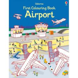 """Carte de colorat """"Airport"""" de Simon Tudhope, 3 ani+, Usborne"""