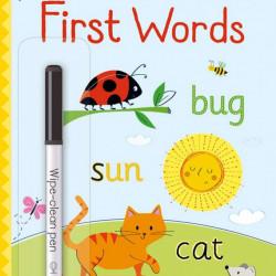 Carte de tip scrie și șterge la nesfârșit, Little wipe-clean first words