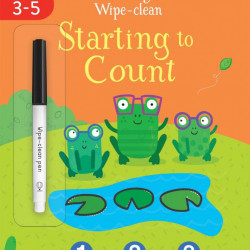 Carte de tip wipe and clean, scrie si sterge, Starting to Count, usborne, 3+
