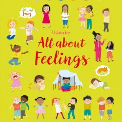 Carte despre emotii si sentimente, All about feelings, Usborne + semn de carte cadou